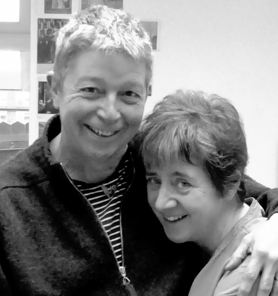 Black and white photograph of Colin and Sallie Black