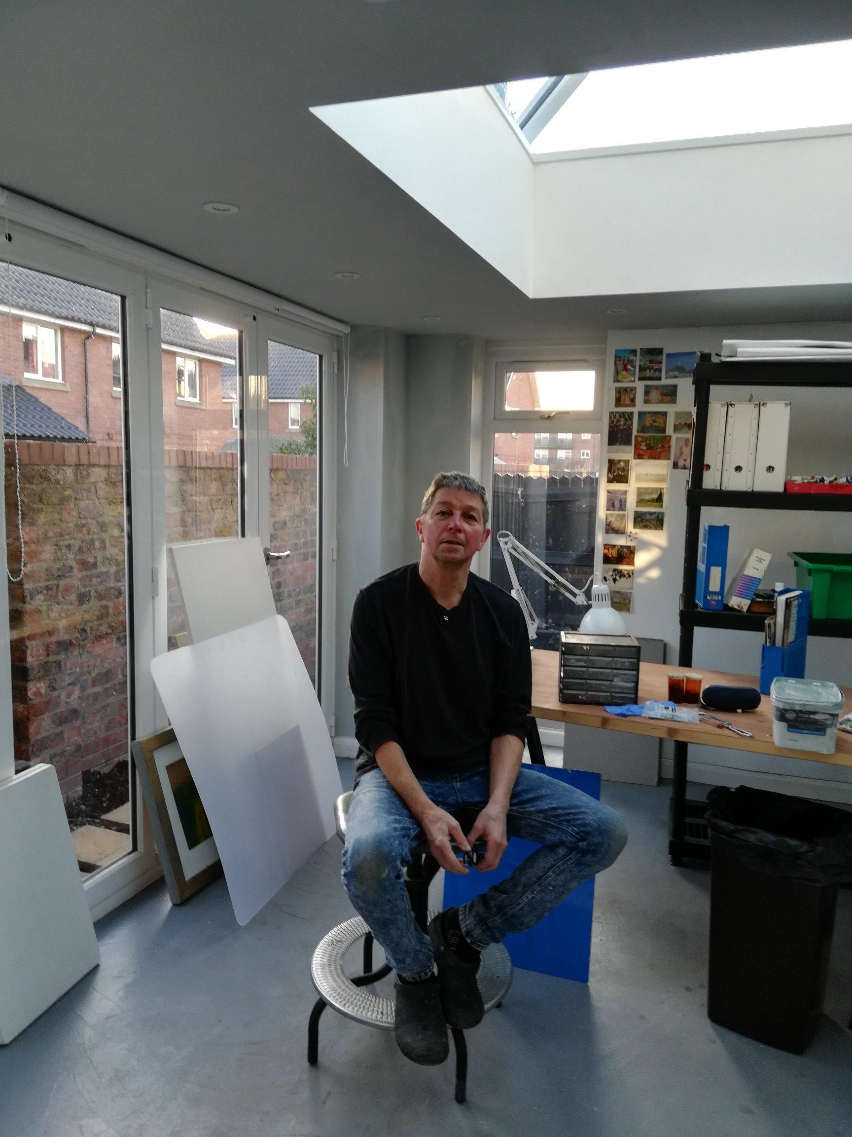 Photograph of Colin Black in Seek Studio
